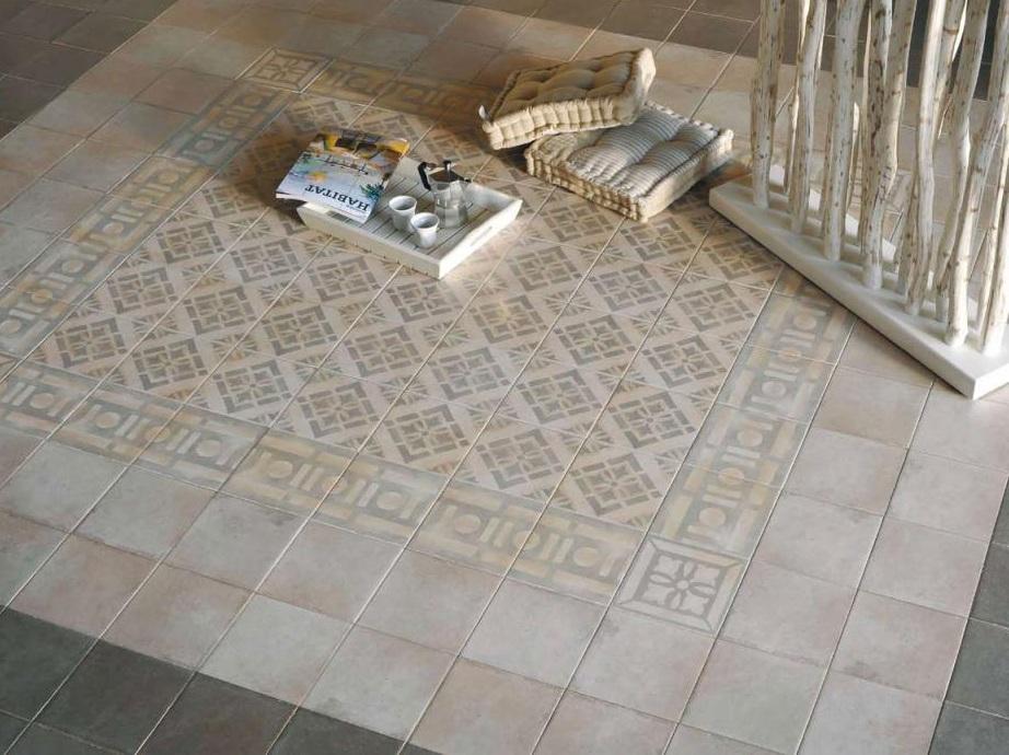 Arcadia historisk betongflis