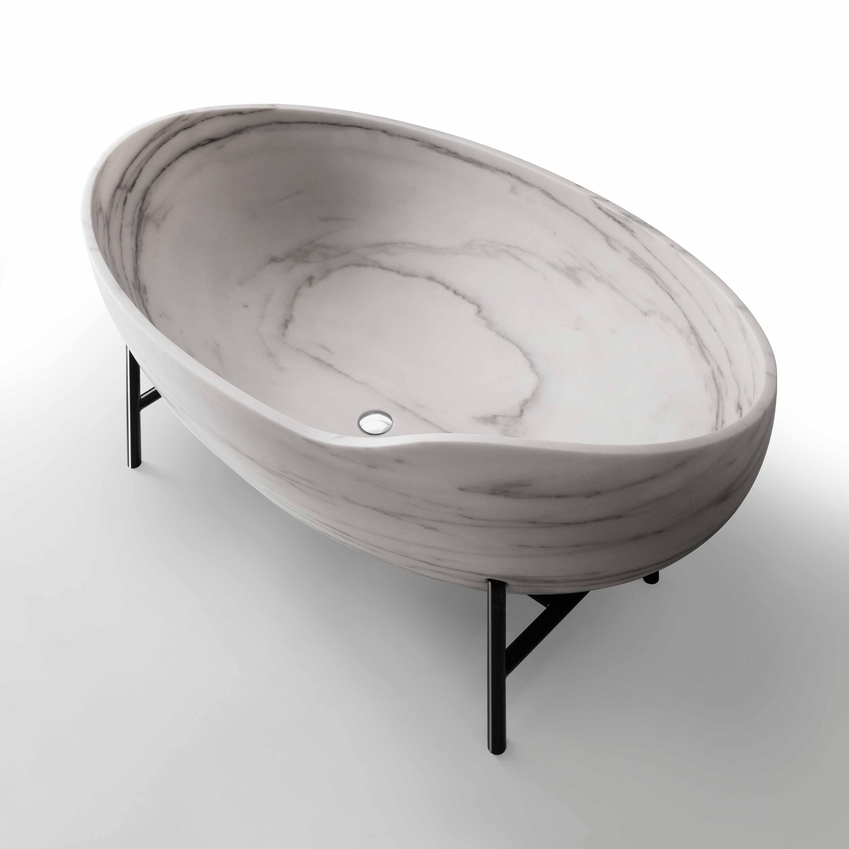 Kora badekar i Bianco Estremoz