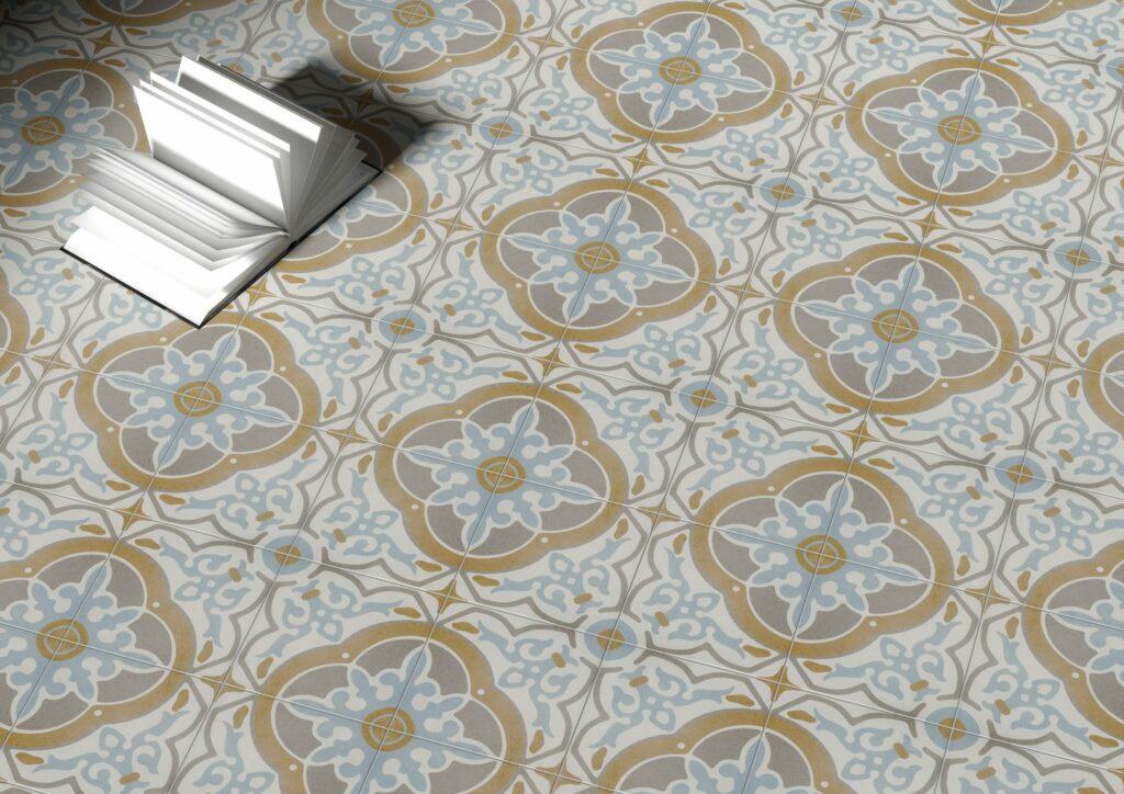 Moderne vedlikeholdsfrie keramiske fliser med utseende som historiske fliser i 20 x 20 hos bella fliser i drammen oslo og tønsberg. Sender over hele landet