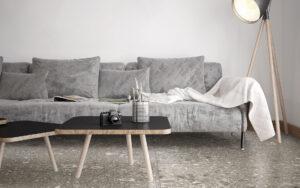 Trerrazzo flis Ornamenta stile libero bella fliser norge drammen lier oslo tønsberg steineffekt badekar solid surface